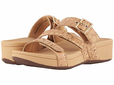 £48.95 • Buy Women Vionic Orthaheel Rio Strappy Sandal 10001130 Gold Cork 100% Authentic New