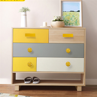 $7.92 • Buy Candy Color Wooden Knobs Drawer Cabinet Closet Cupboard Bars Pull Handle Jian