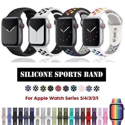 $ CDN6.24 • Buy 40/44mm 38/42mm Silicone IWatch Band Sports Strap For Apple Watch Series 5 4 3 2
