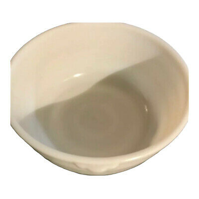 $15.50 • Buy Large Vintage GE MILK GLASS Ribbed & Handles MIXING BOWL For Mid-Century Mixer