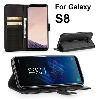 $ CDN4.48 • Buy NEW Leather Flip Wallet Magnet Stand Case Card Slot Cover For Samsung Galaxy S8