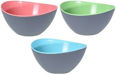 Large 3.4 Litre Plastic Mixing Bowls. In Pink Colour Green Or Blue Bowls • 5.99£