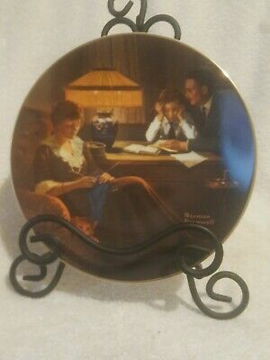 $ CDN9.54 • Buy Norman Rockwell Plate By Edwin Knowles Fathers Help Plate 6708E