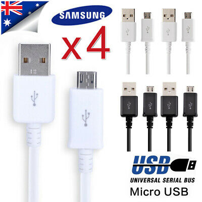 AU9.29 • Buy 4pcs Genuine Samsung S7/S6/S5 Charger Cable Micro USB Android Sync Data Lead 1M