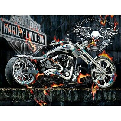 $ CDN12.71 • Buy 5D Diamond Painting Full Drill Embroidery Cross Stitch Kits Harley Motorcycle