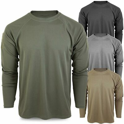 Quick Dry Tactical Military Army Long Sleeve Mesh Wicking Base Layer Top Shirt • 13.90£