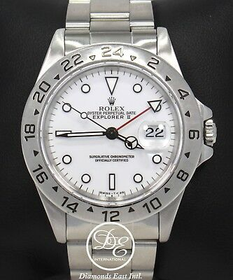 $ CDN10857.10 • Buy Rolex Explorer II 16570 GMT 40mm Oyster Patina White Dial Men's Watch Mint