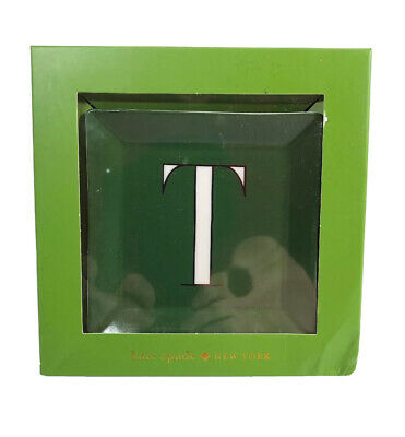 "$ CDN17.66 • Buy Kate Spade New York -  Personal Initial ""T"" Green Jewelry Tray - New In Box"
