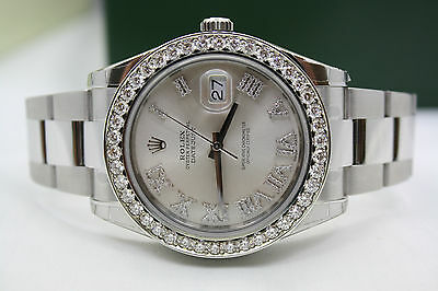 $ CDN13667.34 • Buy New Rolex Datejust Ii 41mm Stainless Steel Diamond Encrusted Watch 116300