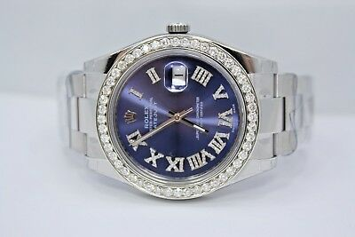 $ CDN13667.34 • Buy New Rolex Datejust Ii 41mm Stainless Steel Diamond Encrusted Watch Ref:116300