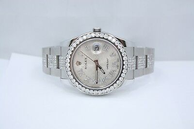 $ CDN17000.84 • Buy New Rolex Datejust Ii 41mm Stainless Steel Diamond Encrusted Watch Ref:116300