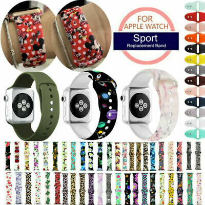 $ CDN11.49 • Buy For Apple IWatch 654321 Band Silicone Strap Print Pattern Bracelet 38/40/42/44mm