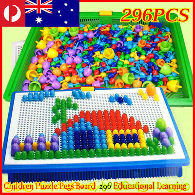 AU13.83 • Buy Kids Pegs Board DIY 296 Toys Educational Children Puzzle Learning Creative Gift