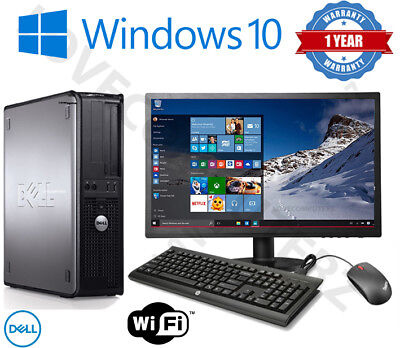 £89.95 • Buy Dell/hp Dual Core Desktop Tower Pc & Tft Computer System Windows 10,8gb,250gb
