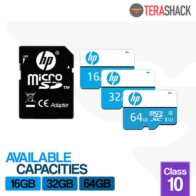 Micro SD Card 16GB 32GB 64GB HP TF Memory Class 10 Galaxy Nintendo Android Phone • 11.99$