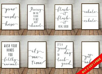 Bathroom Prints Infinity Wall Art Funny Poster. Quality Toilet Home Spa Picture • 5.49£