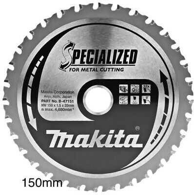 MAKITA 150mm SPECIALIZED B-47151 CIRCULAR SAW BLADE 150X20X32T FOR METAL CUTTING • 35£