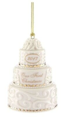 $28.98 • Buy Lenox Our First Christmas Together Cake Ornament – 870656