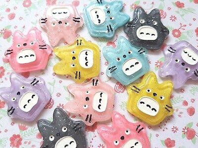 Cute Kawaii Totoro Resin Flatback Cabochon Embellishment Crafts Decoden Bow • 1.25£