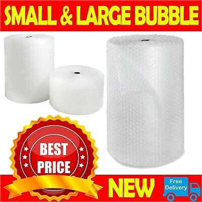 £6.80 • Buy BUBBLE WRAP ROLLS SMALL LARGE (300mm, 500mm, 750mm) - FREE UK NEXT DAY DELIVERY