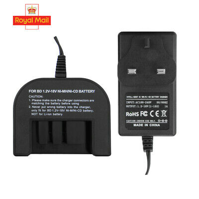 Charger For Black Decker 1.2V-18V A1712 A1718 A12 A18 Ni-MH Ni-CD Battery NEW • 15.45£