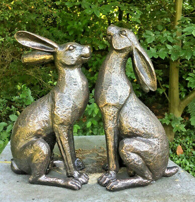 Alert Or Moongazing Hare - NEW BROZE FINISH - Garden Or Home Decoration • 27.99£