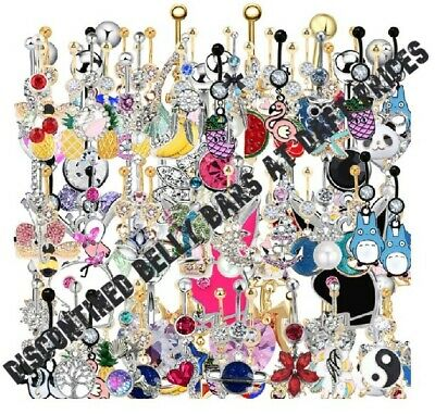 SALE Belly Bars - Discontined Or One Off Items Etc Many Types Of Belly Bar Cheap • 1.75£