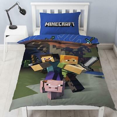 MINECRAFT ~ 'Goodguys' Single Bed Quilt Cover Set • 55AU