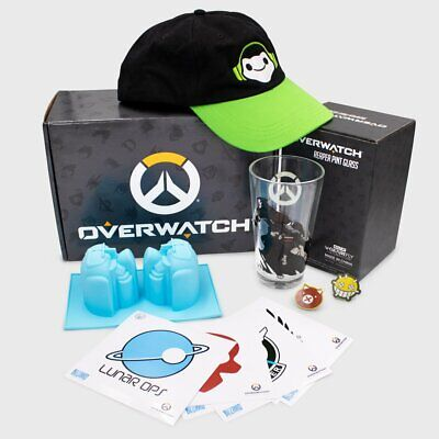 AU20.60 • Buy CultureFly NEW Overwatch Collectors Gift Box -Hat,Pint Glass,Vinyl Decals & More