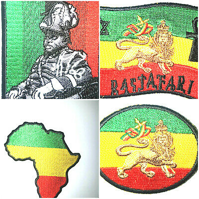Rasta/Africa/Marcus Garvey Iron On Patch • 5.50£
