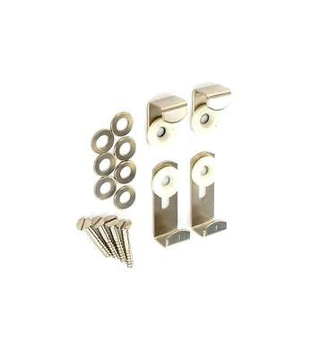 £3.44 • Buy  MIRROR / PICTURE HANGING KIT - Clip Set - Fitting Wall Brackets- Adjustable Fix