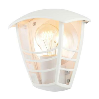 LCC Pedita Outdoor Lighting IP44 Curved Wall Lantern Light - White • 16.99£
