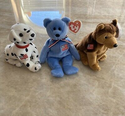 $500 • Buy Ty Beanie Baby Collection- 9/11/2001 Beanies-  Rescue -  Courage - America