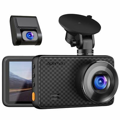 AU152.55 • Buy APEMAN 1440P&1080P Dual Dash Cam 1520P Max Front And Rear Camera For Cars Wit...