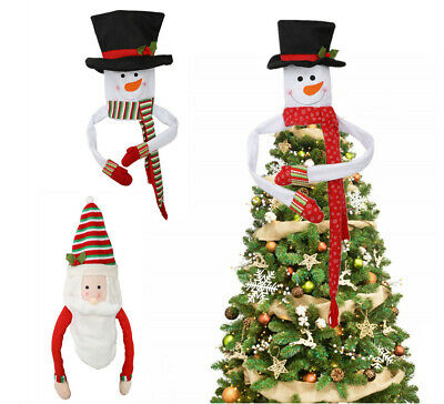 Christmas Tree Topper Snowman Indoor Outdoor Trees Cover Home Xmas Decoration UK • 10.44£