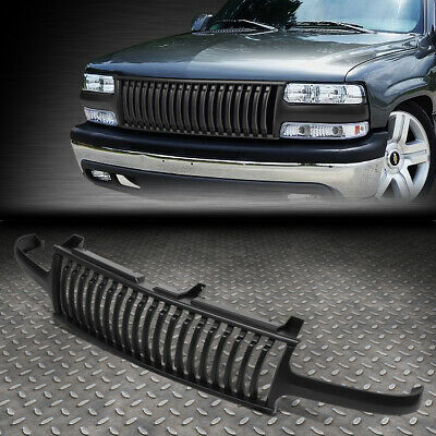 $61.99 • Buy For 99-02 Silverado 00-06 Suburban Tahoe Badgeless Front Bumper Grille Grill