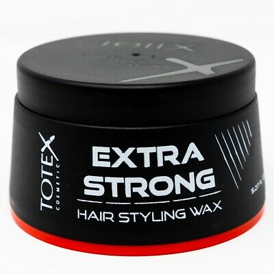 Totex Hair Styling Wax Extra Strong New Formula New Style Case Red 150ml • 7.50£