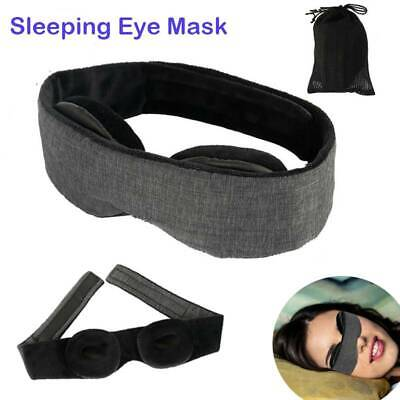 AU12.85 • Buy 3D Eye Sleep Mask Soft Padded Blindfold Blackout Travel Rest Aid Shade Cover