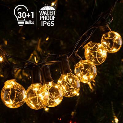 Outdoor Festoon Globe String Fairy Lights G40 30LED Bulbs Garden Wedding Xmas UK • 22.98£