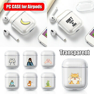 $ CDN2.38 • Buy Dogs Cats Cute Transparent Hard PC Case Cover For Apple Airpods Charging Box