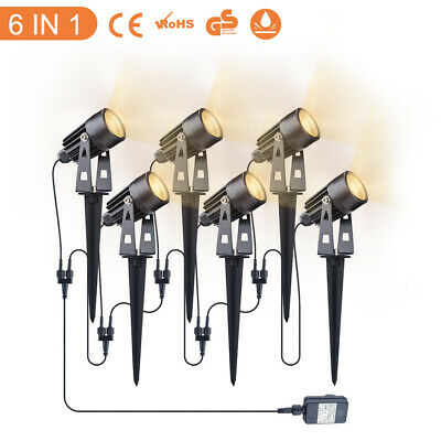 6pcs COB LED Garden Spotlight Path Lawn Outdoor Ground Waterproof Spike Lights • 10.99£