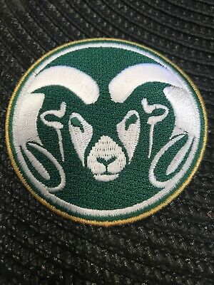 "$6.99 • Buy Colorado State University Rams Vintage Embroidered Iron On Patch 2.75"" X 2.75"""