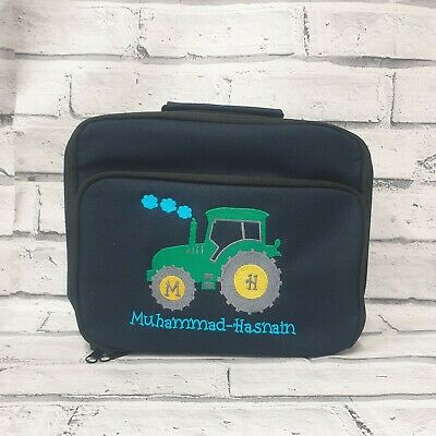 AU25.18 • Buy Personalised  Lunch Bag, Embroidered Tractor Lunch Bag, Tractor Lunch Box