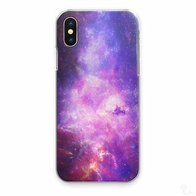 AU15.80 • Buy Galaxy Stars Print Phone Case Pink Purple Hard Cover For Apple Samsung Huawei