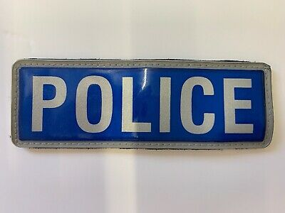 Ex Police Reflective Badge 13.5 X 4.5 Cm Front Badge Collectors Obsolete  • 4.99£