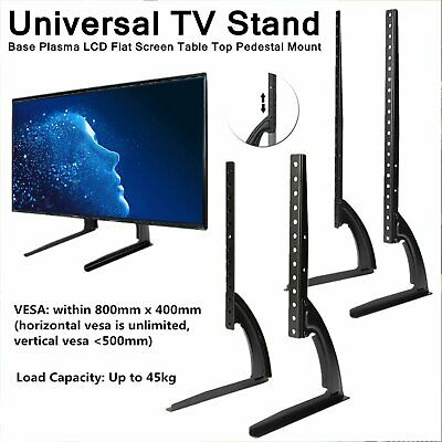 Universal LCD Flat Screen TV Table Top Stand Base Mount Super Stable Feet 27-65  • 17.55$