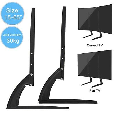 Universal Table Top TV Stand Base Mount For 24- 65  Height Adjustable Load 110LB • 15.88$
