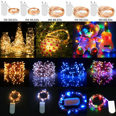✅LED Battery Micro Copper Wire Fairy String Lights Christmas Party Garden Decor • 1.49£