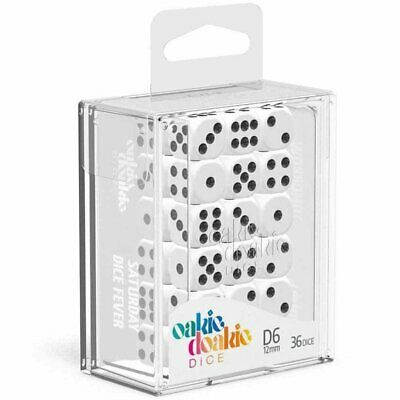 AU20.84 • Buy Oakie Doakie Dice D6 12 Mm Solid White 36pc