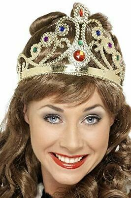 £4.29 • Buy Adult Queens Crown Jewel Assorted Colours Silver Or Gold Fancy Dress Accessory